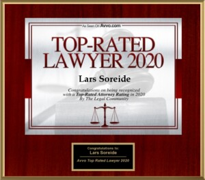 Lars Soreide AVVO 2020 Top Lawyer