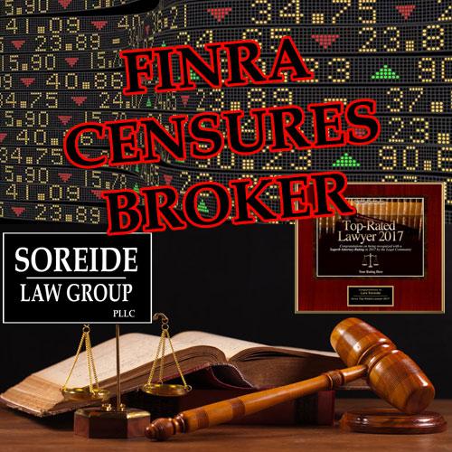 ATTENTION INVESTORS: FINRA Fines, Suspends Morgan Stanley Broker