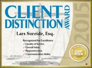 Soreide Law Group Client Distinction