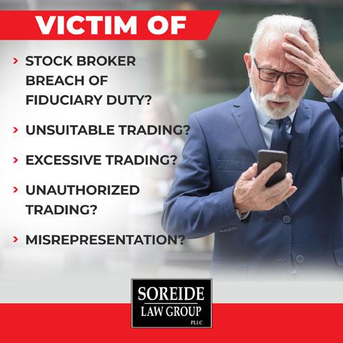 Victim of broker fraud? call soreide law group